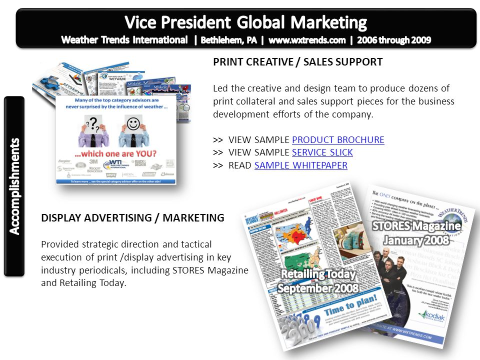 EMAIL / DIRECT MARKETING Email marketing is a KEY skill set developed over the past 8 years.