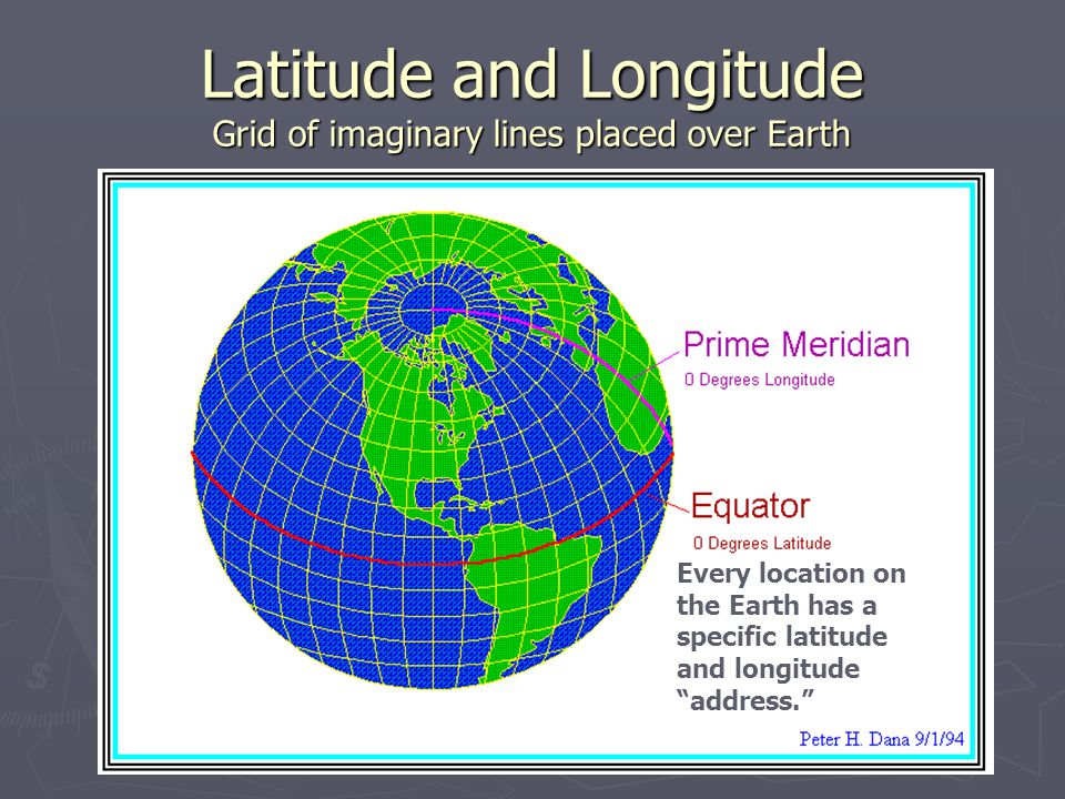 Latitude Latitude lines circle the Earth horizontally, parallel to the Equator (0 Degrees) Latitude is measured in Degrees North or South of the equator (0-90 Degrees) HHS is at 37° North Latitude