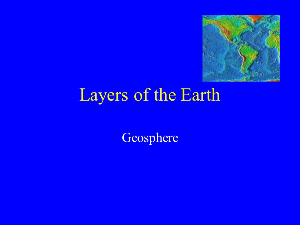 The Earth as a System Integrated system of rock, air, water, and living things.