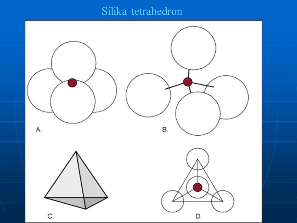 Sheet structure B, C Tetrahedron tunggal
