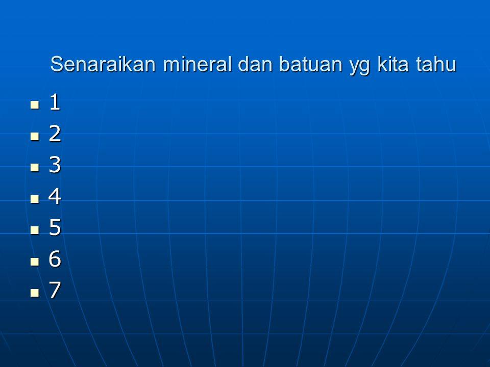 MINERAL Apa itu mineral.Apa itu mineral.