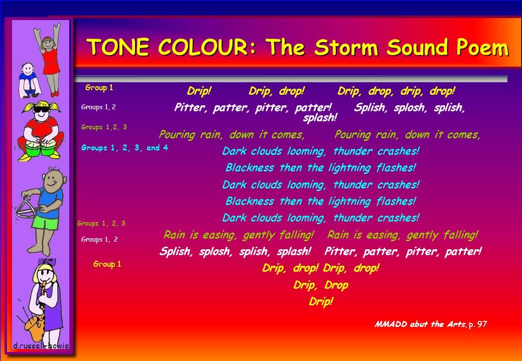 d.russell-bowie TONE COLOUR: The Storm Sound Poem Drip.