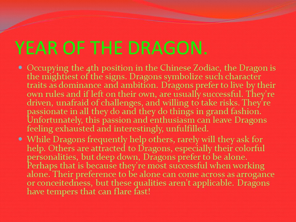 LIFE OF THE DRAGON.