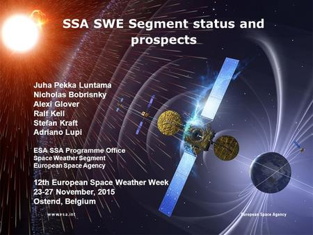 SSA SWE Segment status and prospects