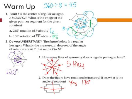 Warm Up. DILATIONS, SIMILAR FIGURES, & PROVING FIGURES SIMILAR Tuesday October 29 th.