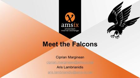 Meet the Falcons Ciprian Marginean Aris Lambrianidis