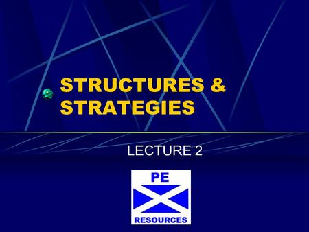 STRUCTURES & STRATEGIES LECTURE 2. FORMATIONS Strengths and weaknesses Roles and Responsibilities Proficiency Width Depth Mobility The ability to cover.