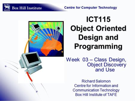 object oriented wk 8 Utpc gdc 1304 5:30-8pm 5: week of 23 sep, mon, tue, wed, thu, fri ch 7-8  the single responsibility principle 6: week of 30 sep, mon, tue, wed, thu.