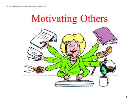 © 2001 Wadsworth, a division of Thomson Learning, Inc 1 Motivating Others.