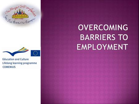  Employment barriers can differ  Age  Criminal record  Disabilities and mental illness  Disadvantaged background  Domestick violence  Drug and.