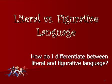 literal vs figurative blindness