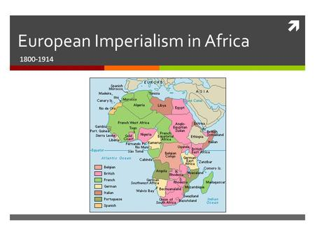  European Imperialism in Africa 1800-1914. What is Imperialism?  Powerful nations seek to extend their control or influence over less powerful nations.