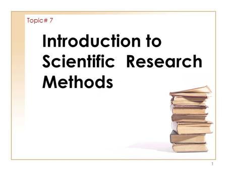 introduction of a scientific research paper