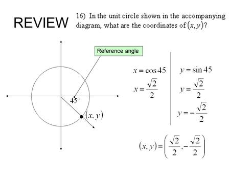 REVIEW Reference angle.