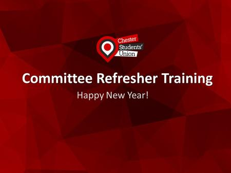Committee Refresher Training Happy New Year!. Thank You.