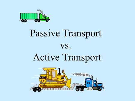 Passive Transport vs. Active Transport. Remember that all cells have … Plasma or cell membranes that are selectively permeable and very fluid… (Click.
