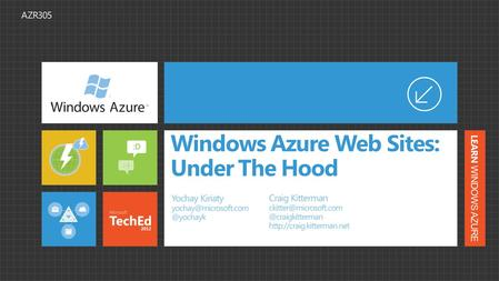 Windows Azure Web Sites: Under The Hood. What we will cover… General Overview (a marketing necessity) Demo Architecture Configurations Demo Scale Demo.