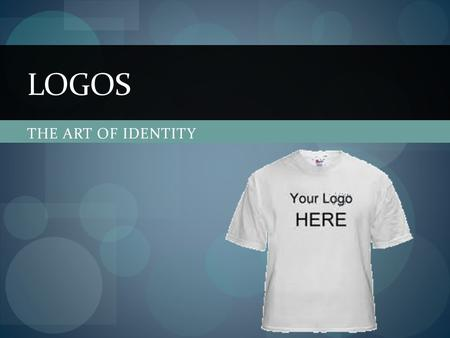 THE ART OF IDENTITY LOGOS. 1 2 3 4 5 6 7 8.