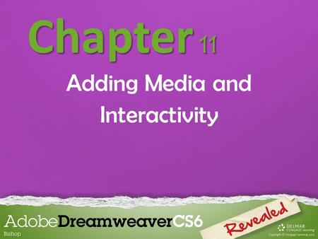 Chapter 11 Adding Media and Interactivity. Chapter 11 Lessons Introduction 1.Add and modify Flash objects 2.Add rollover images 3.Add behaviors 4.Add.