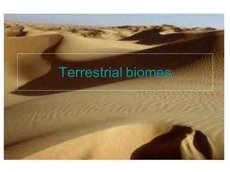 Terrestrial biomes. biome Definition- a major type of ecosystem with distinctive temperatures, precipitation, and organisms.