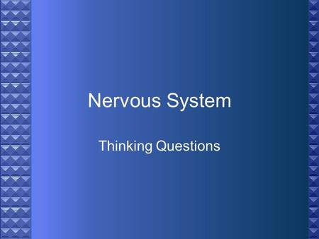 Nervous System Thinking Questions. Explain how the sense of smell relates to the sense of taste in identifying a food such as chocolate.
