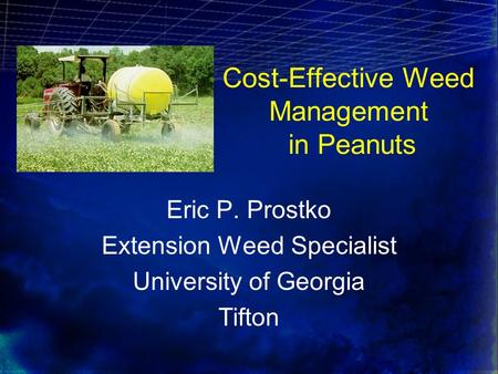 Cost-Effective Weed Management in Peanuts