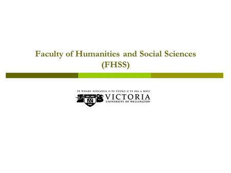 Faculty of Humanities and Social Sciences (FHSS).