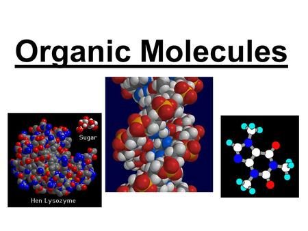 "Organic Molecules. Macromolecules Macromolecules are ""giant molecules"" found in living cells Smaller units are called monomers, these join together to."