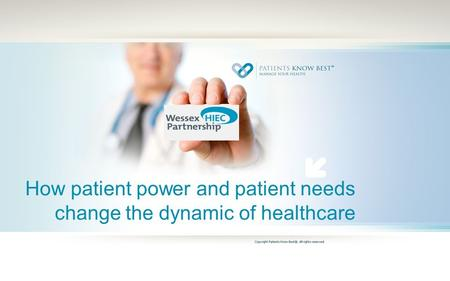 How patient power and patient needs change the dynamic of healthcare.