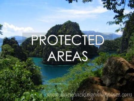PROTECTED AREAS.