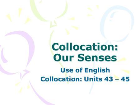 Essay on our senses