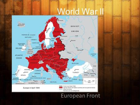 World War II European Front. Conferences Atlantic Charter 8/1941 (Newfoundland) Meeting between Franklin D. Roosevelt and Winston Churchill a.Set forth.