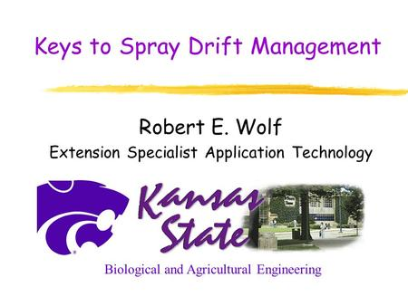 Keys to Spray Drift Management