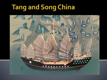  From the Tang era to the 18 th century, the Chinese economy was one of the world's most advanced  China was a key source of manufactured goods and.