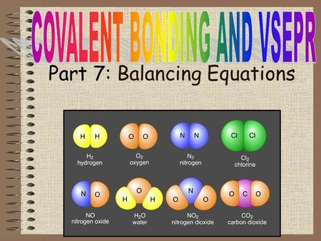 Part 7: Balancing Equations. Objectives -Write a chemical reaction with chemical formulas -Balance chemical reactions following the Law of Conservation.