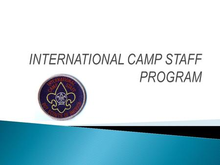  Program Enrichment  Cultural Exchange  International Scouting experience for youth.