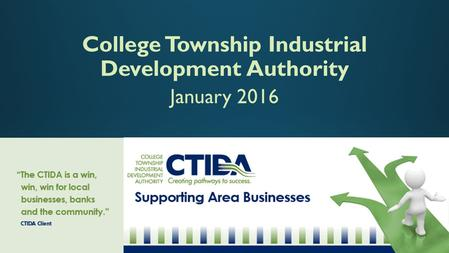 College Township Industrial Development Authority January 2016.