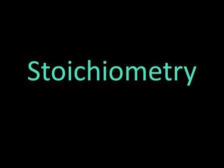 Stoichiometry Stoichiometry is a section of chemistry that involves using relationships between reactants and products in a chemical reaction to determine.