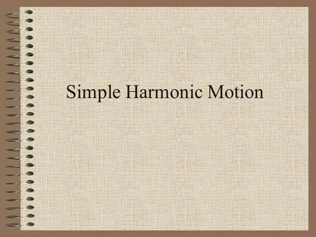 Simple Harmonic Motion. Periodic Motion When a vibration or oscillation repeats itself over the same time period.
