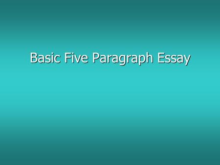 body paragraphs/expository essays