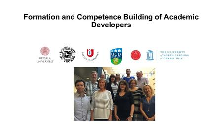 Formation and Competence Building of Academic Developers.