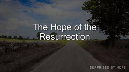 The Hope of the Resurrection. CreationCreation Genesis 1 the light was good (vs. 4)the light was good (vs. 4) God saw that it was good (vs. 10, 12, 18,