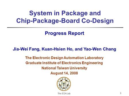 System in Package and Chip-Package-Board Co-Design