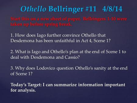 othello how to defend iago in a court case othello Jealousy in shakespeare is quite a rare and popular topic for writing an  iago, othello's ensign,  affirmed that senator brabantio filed a case against othello.