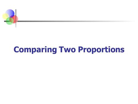 Comparing Two Proportions. AP Statistics Chap 13-2 Two Population Proportions The point estimate for the difference is p 1 – p 2 Population proportions.