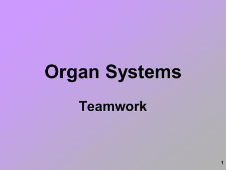 1 Organ Systems Teamwork. 2 Nervous Digestive Integumentary Respiratory Skeletal Muscular Excretory Circulatory Endocrine Reproductive Lymphatic 11 Systems.