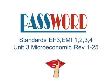 A Vocabulary Review Activity Standards EF3,EMI 1,2,3,4 Unit 3 Microeconomic Rev 1-25.
