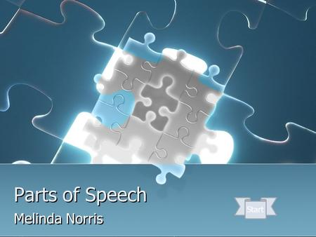 Parts of Speech Melinda Norris Start. How to navigate through this tutorial At the bottom of each page, you will see buttons that allow you to move to.