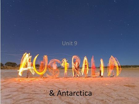 & Antarctica Unit 9. Videos  Antarctica Panoramic Australia-