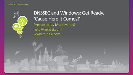 Presented by Mark Minasi  1 SESSION CODE: WSV333.
